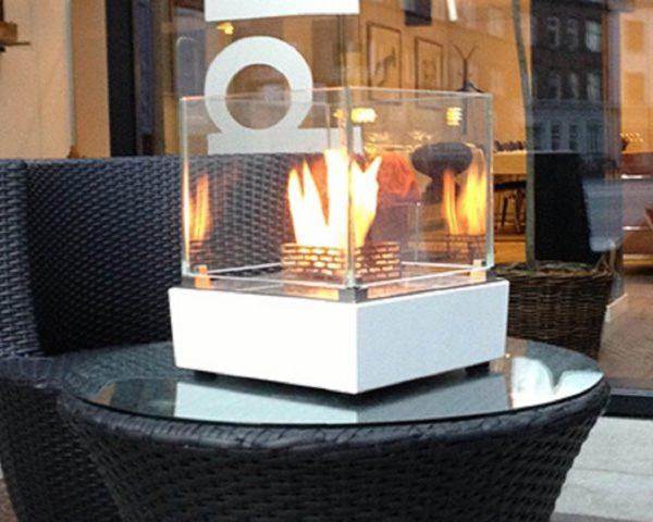 Biokominek Nice Table-Top aranżacja