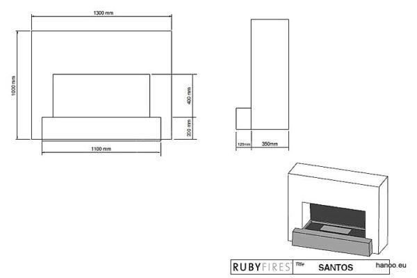 Ruby Fires - Biokominek Santos