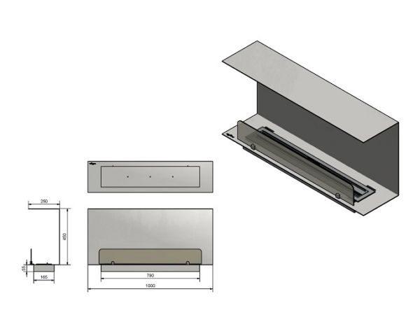 Wkład do zabudowy Inside C1000 Vers1 wymiary