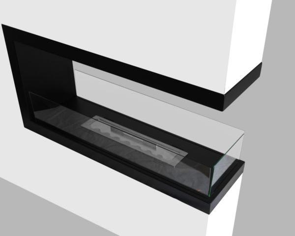 Biokominek Inside U1000 zamontowany w ścianie