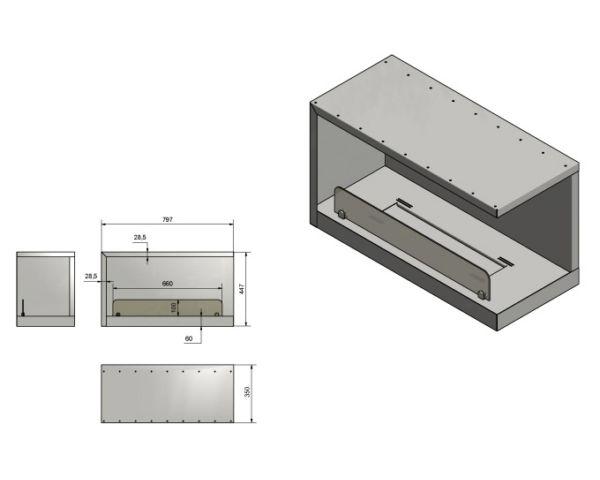 Narozny Wkład do zabudowy Inside P800 Vers2 wymiary