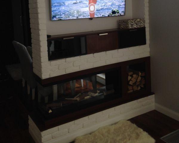 Biokominek Wkład do zabudowy Inside U1000 z izolacją termicznąWkład do zabudowy Inside U1000 pod telewizorem