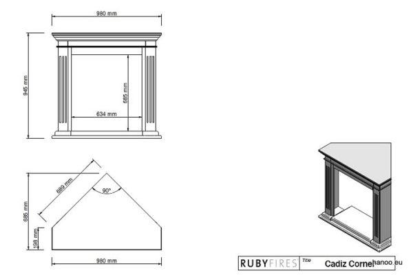 Ruby Fires - Biokominek Cadiz Corner