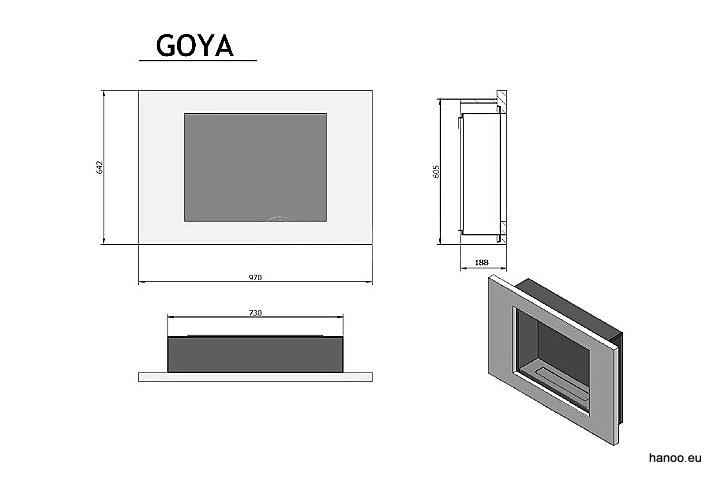 Ruby Fires - Biokominek Goya