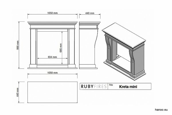 Ruby Fires - Biokominek Kreta Mini