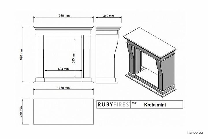 Ruby Fires - Biokominek Kreta Mini
