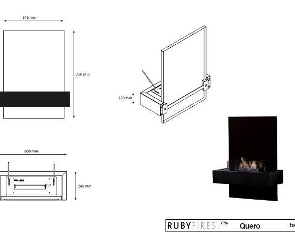 Ruby Fires - Biokominek Quero