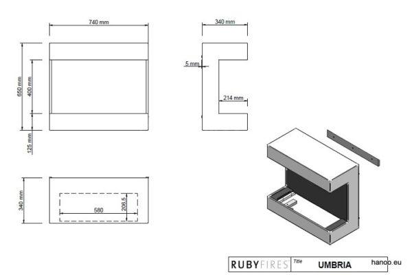 Ruby Fires - Biokominek Umbria