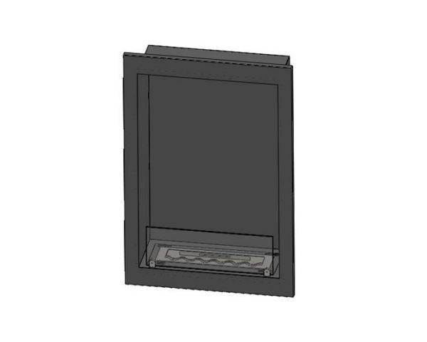 Biokominek Inside na indywidualne zamówienie długość 60cm, wysokość 90cm z szybą 15cm