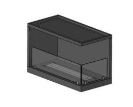 Inside L800 vers2 wysokość 50cm z szybą 20cm i z boczną szybą palenisko 60cm proste