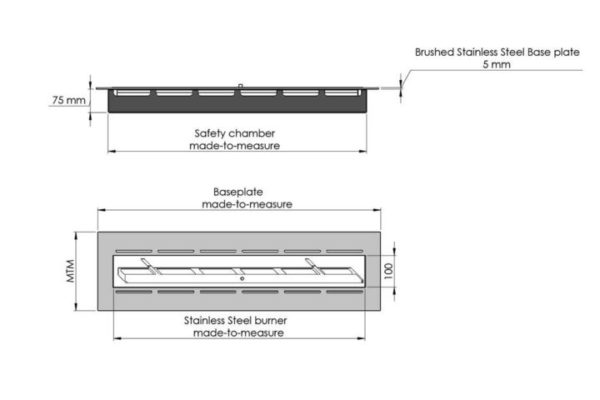 Specifications Baseplate with manual burner