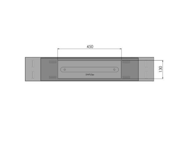 Biokominek Blackbox 910 palnik 450 Simple fire