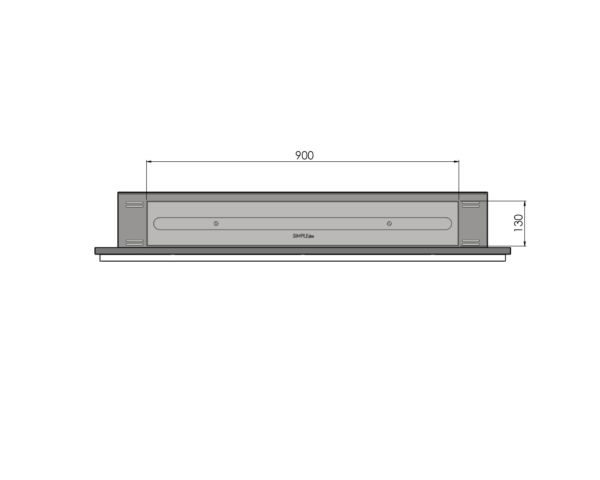 Biokominek Frame 1200 ramka kolor palnik 900