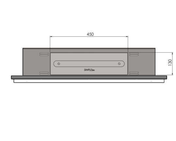 Biokominek Frame 900 palnik 450