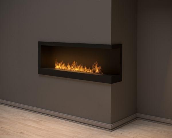 Biokominek narożny Corner 1200 R Simple fire wkład zabudowany w ścianie