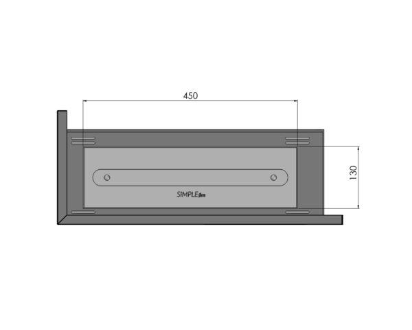 Biokominek narożny Corner 600 L Simple fire palnik