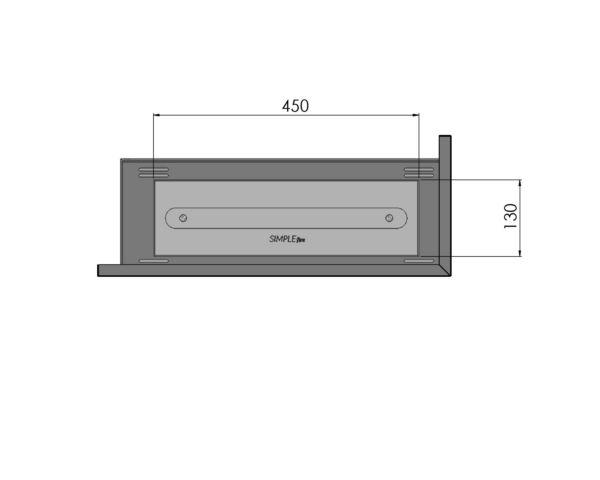 Biokominek narożny Corner 600 R palnik 450
