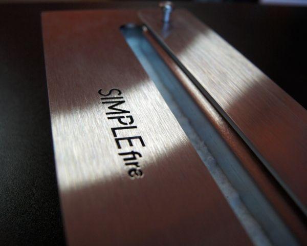 Biokominek Simple fire palnik Inox