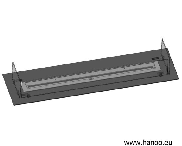 Wkład 1200 mm z paleniskiem 1000 mm z regulacją wielkosci płomienia