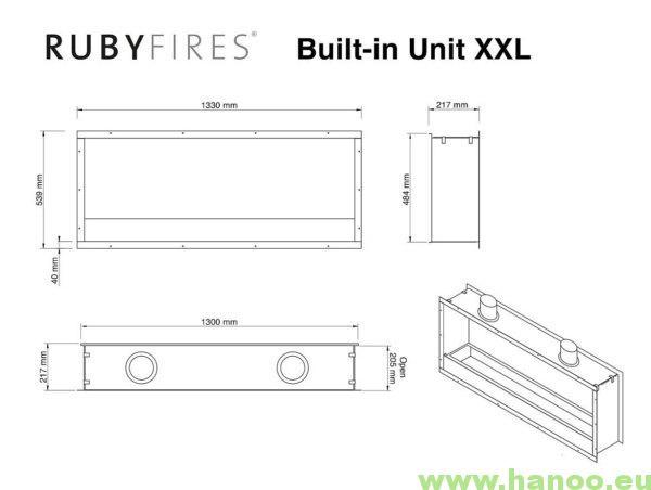 rys techniczny RubyFires wklad XXL dwustronny