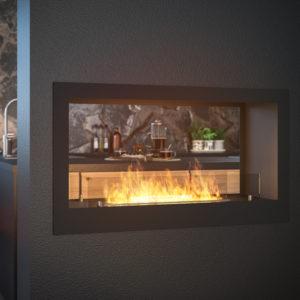 biokominek infire 2 side 900 aranzacja