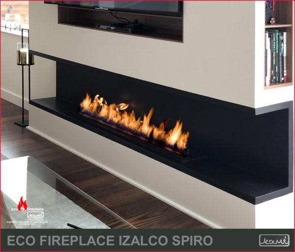 eco fireplace izalco spiro