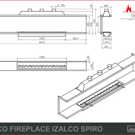 eco fireplace izalco spiro rys tech