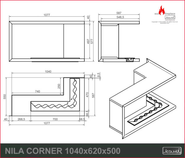 eco fireplace nila cornerx
